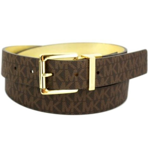 8199737d2a6c Michael Kors Logo Premium Leather Reversible Belt